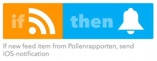 Pollenkoll med RSS och Ifttt