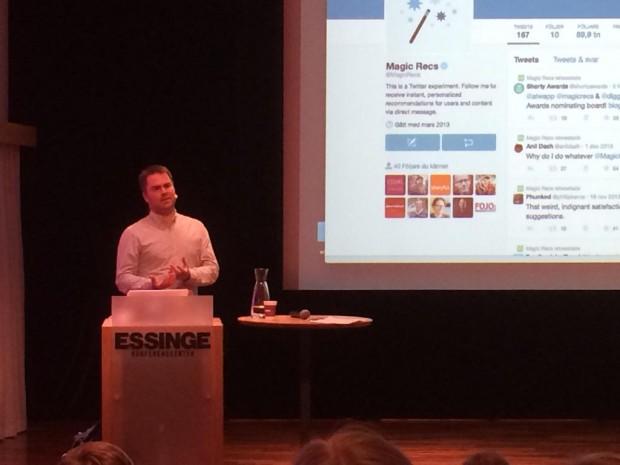 Nätet som reporterverktyg var ämnet för föreläsningen på Fackförbundspressens dag. (Foto: Unn Edberg)